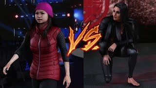 High School Girl Vs Zelina Vega | WWE 2K19 barefoot Match | WWE 2K19 PC Match