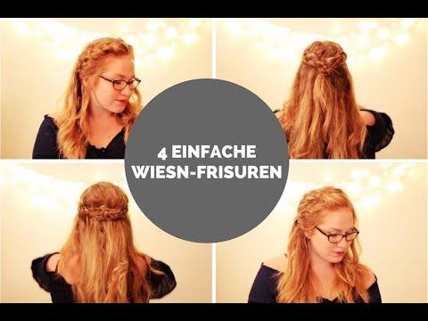 4 Einfache Wiesn Frisuren Für Offenes Haar Youtube