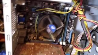 Осмотр системника,который принесли на ремонт. 2014 год