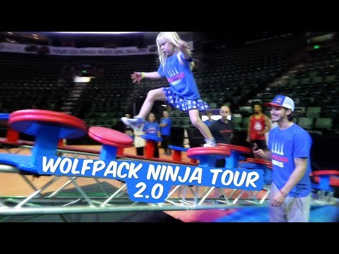 When She's At The Wolfpack Ninja Tour 2.0 And FLIP GAVE HIS MEDAL TO LYLAH!!!