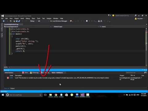 (solved) Scanf function may be unsafe, consider scanf_s instead. error C42996 in visual studio 2015