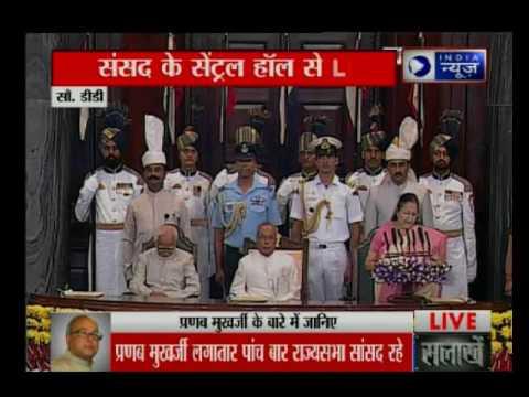 Pranab Mukherjee remembers 'mentor' Indira in farewell speech