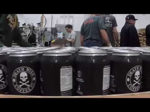ON LOCATION: Death Wish Coffee Nitro Brew canning at Olde Saratoga Brewing Company