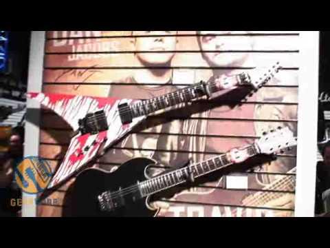ESP LTD DJ600V Dan Jacobs Signature Guitar Mildly Disturbs Winter NAMM 2009 Crowds