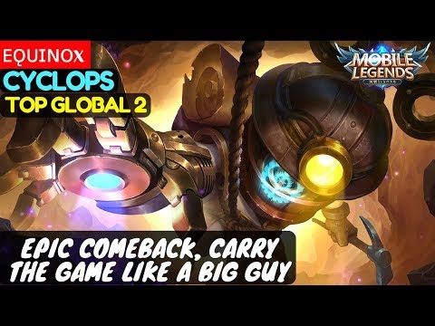 Epic Comeback, Carry The Game Like a Big Guy [Top Global 2 Cyclops] | ᴇǫᴜɪɴᴏx Cyclops Mobile Legends
