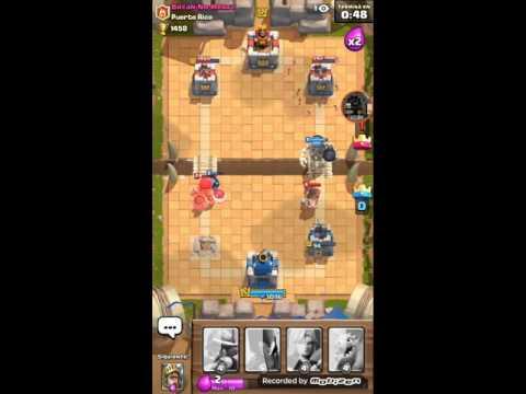 Clash of royale jugando con personas de no clan