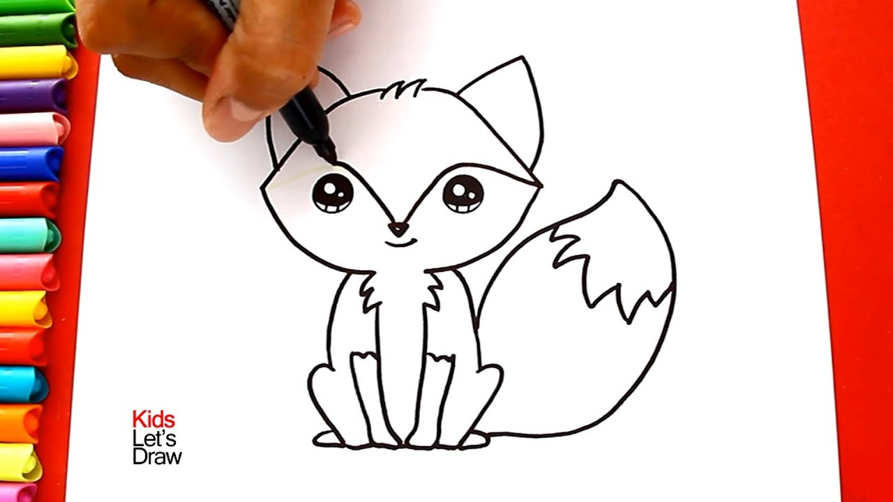 How To Draw And Color A Fox Kawaii Learn Draw Kidsletsdraw