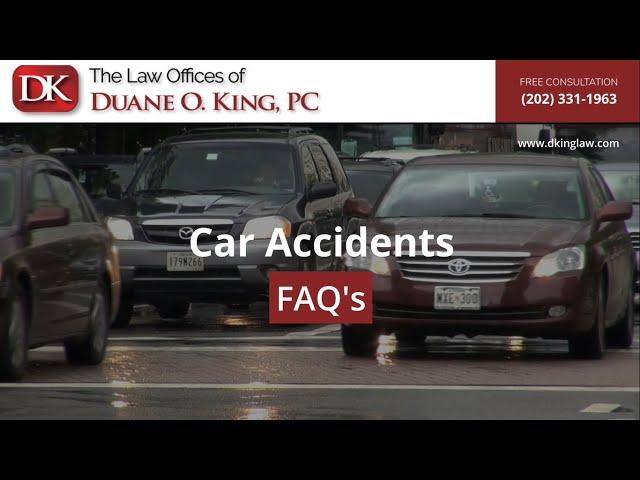 Car Accidents FAQ's