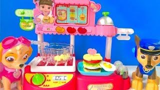 Best Learning Colors Video for Children - Skye Chase Pups Make Food Sandwich