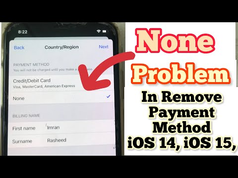 None problem in payment method remove on iphone,ipad ios13.2019.2020manage payment debit/credit card from YouTube · Duration:  2 minutes 29 seconds