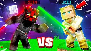 SITH vs JEDI MINECRAFT LIGHTSABER CHALLENGE! (force powers)