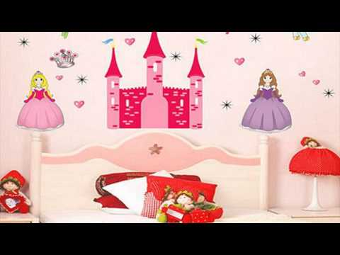 Princess Bedroom Wall Stickers For Kids