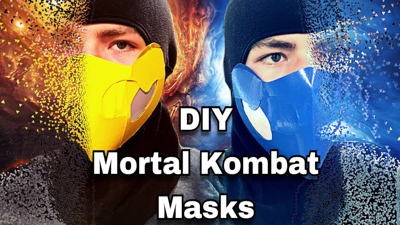 Diy Mortal Kombat Masks Youtube