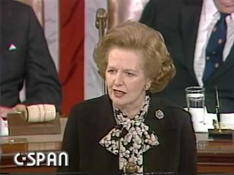 Europe segment of Margaret Thatcher's speech to the Joint Houses of Congress USA - 1985