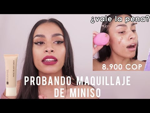 Probando maquillaje de Miniso: Base hydro light foundation