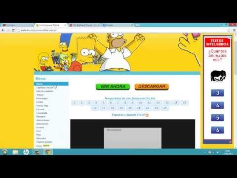 Tutorial_La mejor pagina web para ver capitulos online de ,(Los simpson,The big ban theory...)