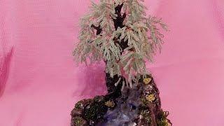 "Дерево""Ива"" с водопадом из бисера"