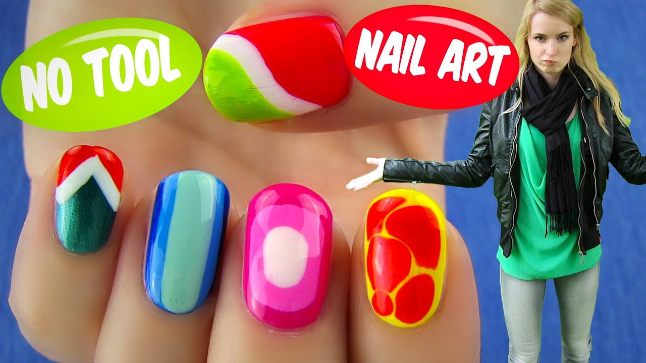 No Tool Nail Art 5 Nail Art DesignsIdeas Without Any Nail Art