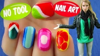 No Tool Nail Art Nail Art Designs Ideas Without Any Nail Art Tools