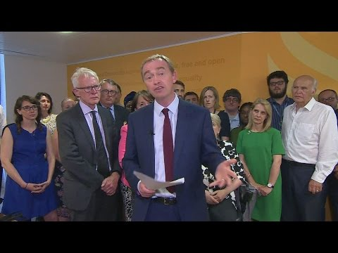 Full speech: Tim Farron resigns as Liberal Democrats leader
