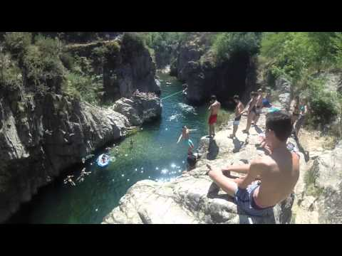 GO PRO Cliff diving France, Ardèche 2015