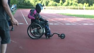 Jet wheelchair with behotec jet engine