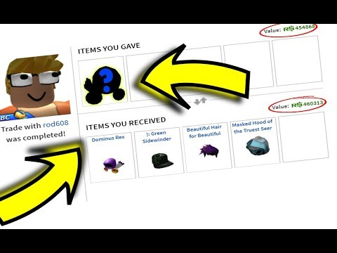 TRADING THIS EXPENSIVE DOMINUS... (Roblox)