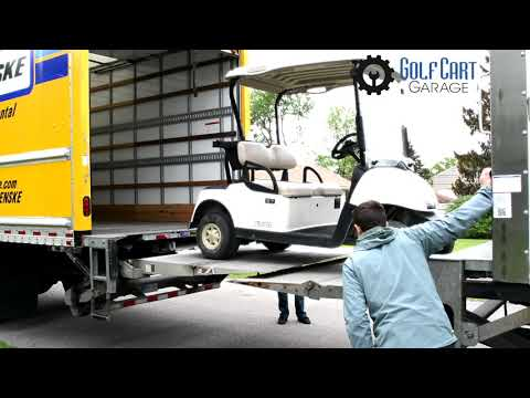 How To NOT Deliver New Golf Carts | The Golf Cart Garage Team Figuring Out How To Use Lift Gates