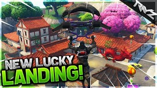 "New ""Lucky Landing"" City Gameplay! Secret Chest Locations + More (Fortnite Battle Royale New Update)"