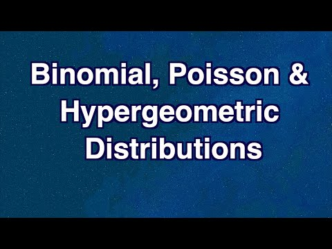 Discrete Distributions: Binomial, Poisson and Hypergeometric