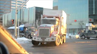 DUMP TRUCKS USED IN MONTREAL SNOW REMOVAL OPERATIONS