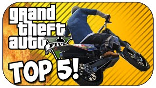 Top 5 MOTORBIKE STUNTS in GTA 5! (Episode #24)
