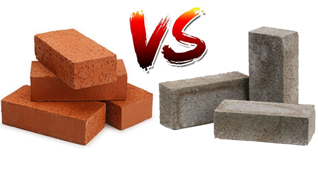 Cement Brick Impact With Fired Red Which Is Stronger