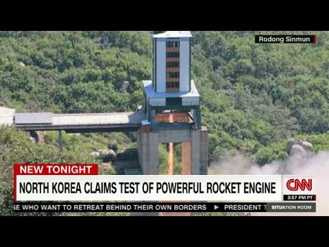 North Korea rocket engine test
