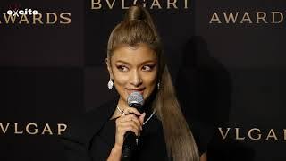 モデルのローラが 舞浜アンフィシアターで開催した「BVLGARI AVRORA AWARDS 2019」 ゴールデンカーペットセレモニーを行った。 授賞式には、受賞者であ...