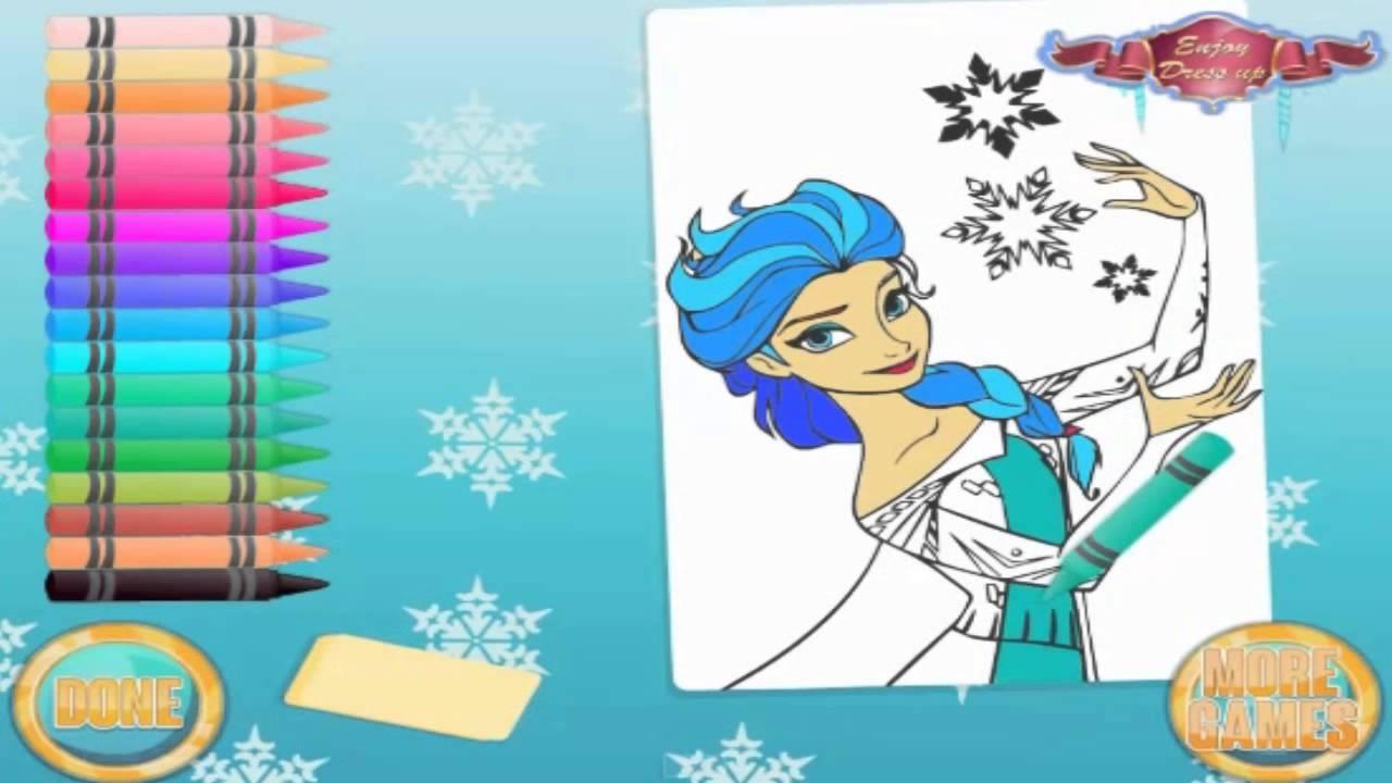 Atividades Divertidas Com A Rainha Elsa De Frozen Jogo Colorir With The Queen Game