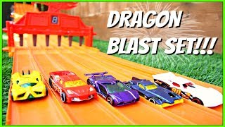 HOT WHEELS 5 PACK GIVEAWAY AND TOY CAR VIDEO FOR KIDS -(Dragon Blast 5 Pack Set!)