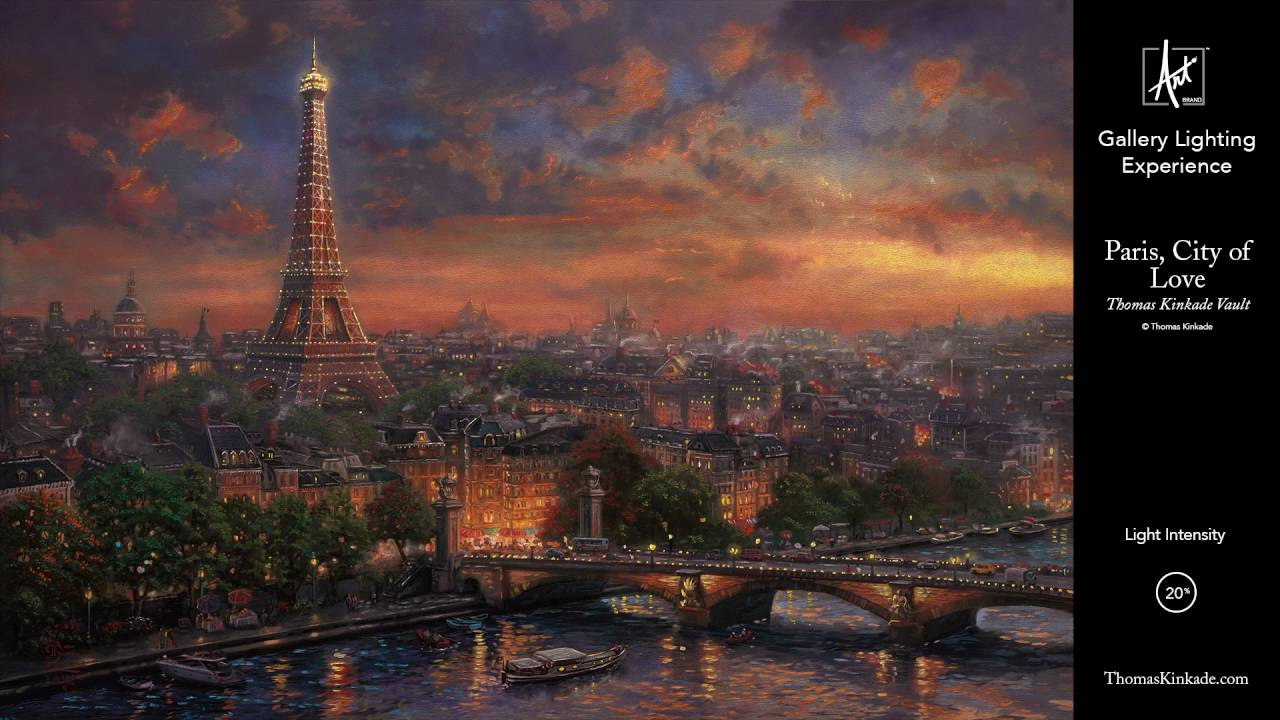 paris city of love from the thomas kinkade vault gallery lighting experience youtube. Black Bedroom Furniture Sets. Home Design Ideas