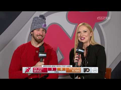 Keith Kinkaid Talks Shutout, Going for Empty Net | New Jersey Devils Postgame
