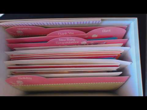 ASMR Whisper ~ Greeting Card Organizer Show & Tell ~ Southern Accent