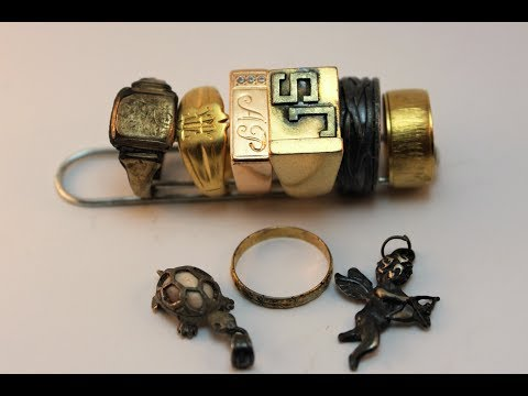Underwater Metal Detecting w Excalibur ! Golden rings! Пляжный коп!