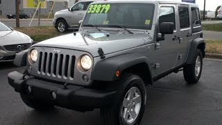 2016 Jeep Wrangler Unlimited Sport Walkaround, Start up, Tour and Overview