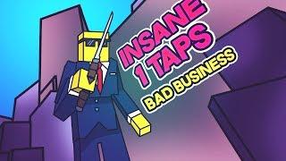 INSANE 1 TAPS! Roblox Bad Business 44 MAGNUM Gameplay