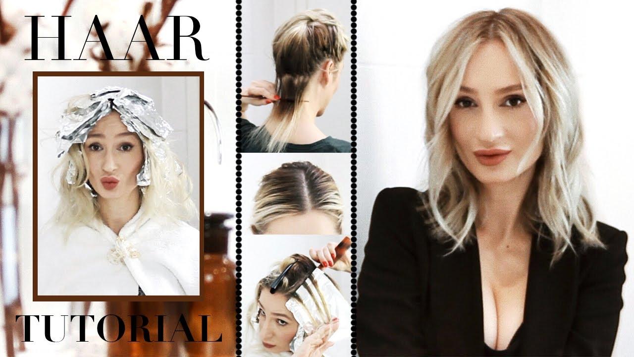 Frauen selber machen blonde strähnen Strähnchen ganz