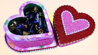 WOW ! कुछ नया बनायें इस Valentine Day ! Best Out of Waste From Plastic Bottle, Heart Shaped Box!
