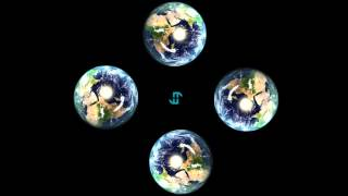 Earth Rotation Day and Night Pyramid HD Hologram Display