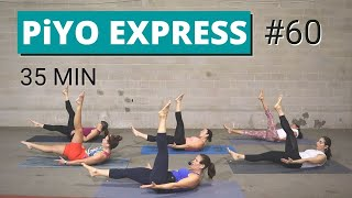 35 Min PiYO Express #60 | Yoga Flow | Cardio Strength | No Equipment Low-Impact No Jumping Core