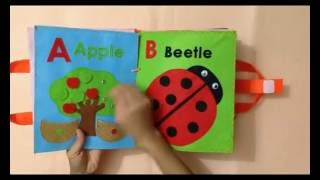 Quiet book for kid/busy book for kid/The first book ABC 1/Ideas for the first book ABC/ABC busy book