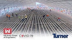 COVID Field Hospital 4K Time-Lapse by Turner and U.S. Army Corps of Engineers at Stony Brook, NY