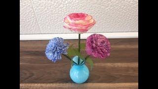 DIY Blumen basteln mit Sola Holz Blumen, einfach und schnell